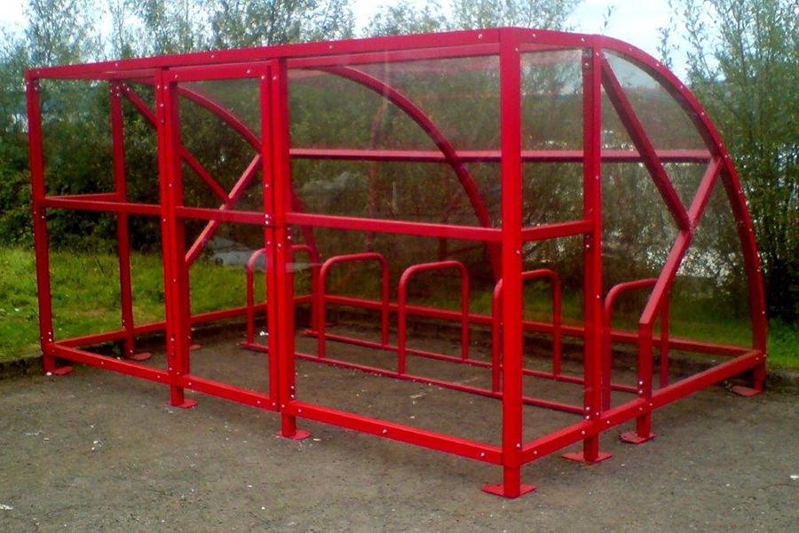 cycle shelter extended front